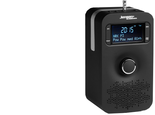 FOX 200 DAB+ Radio Black, 1